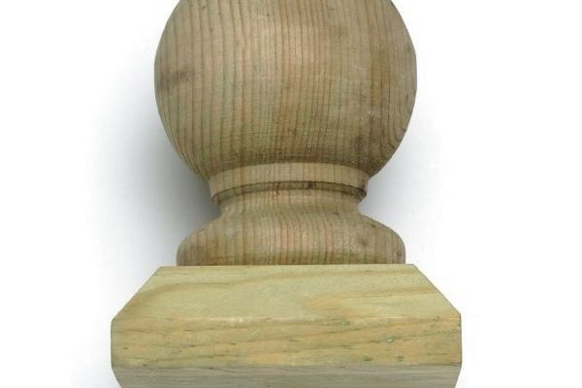 Q-Deck Plus Ball and Post Cap with Connector 100mm x 100mm x