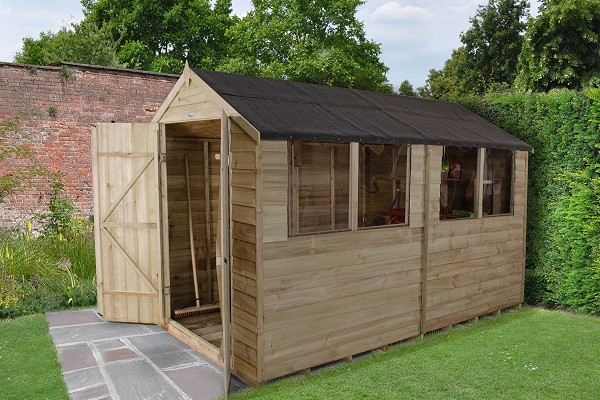 Overlap Pressure Treated Shed (Double Doors)