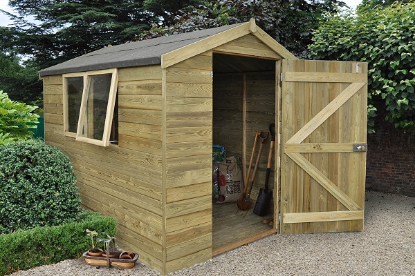 Tongue and Groove Pressure Treated Shed